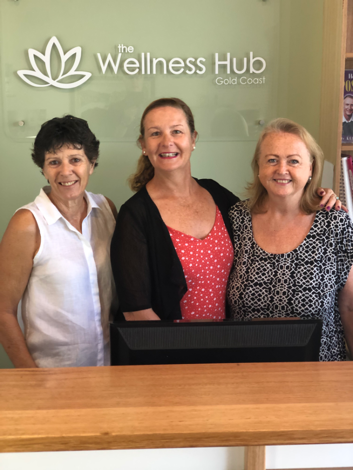 The friendly staff at The Wellness Hub Jane, Maggie and Lyn