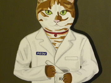 Cat Pharmacist in acrylic