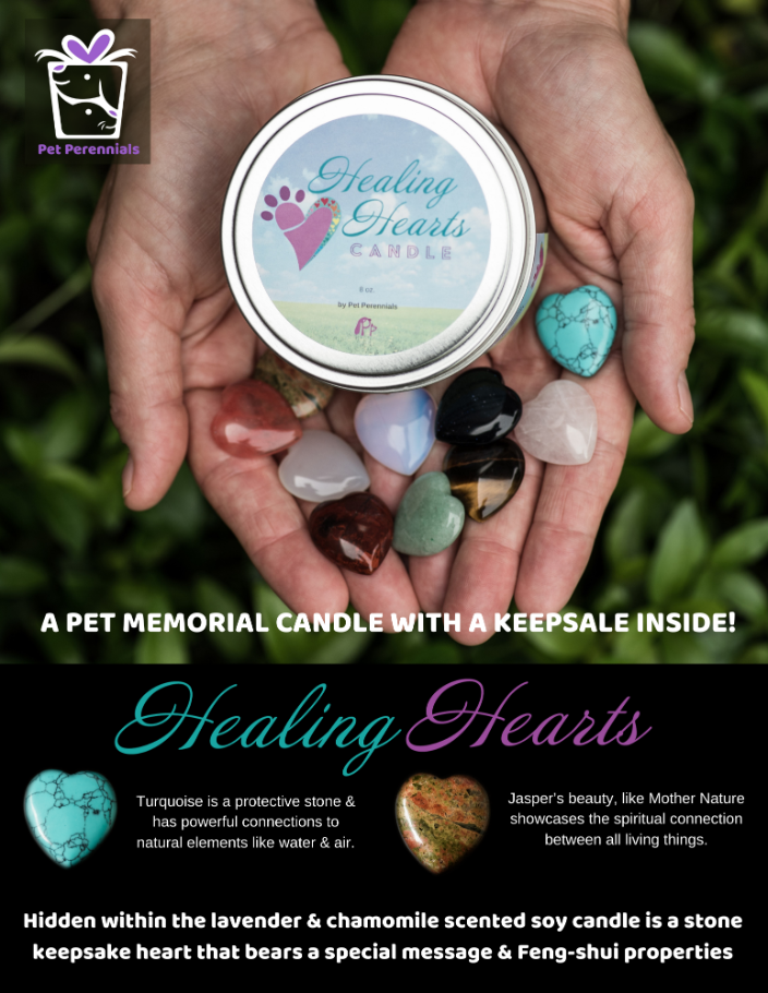 Healing Hearts Pet Memorial Candle