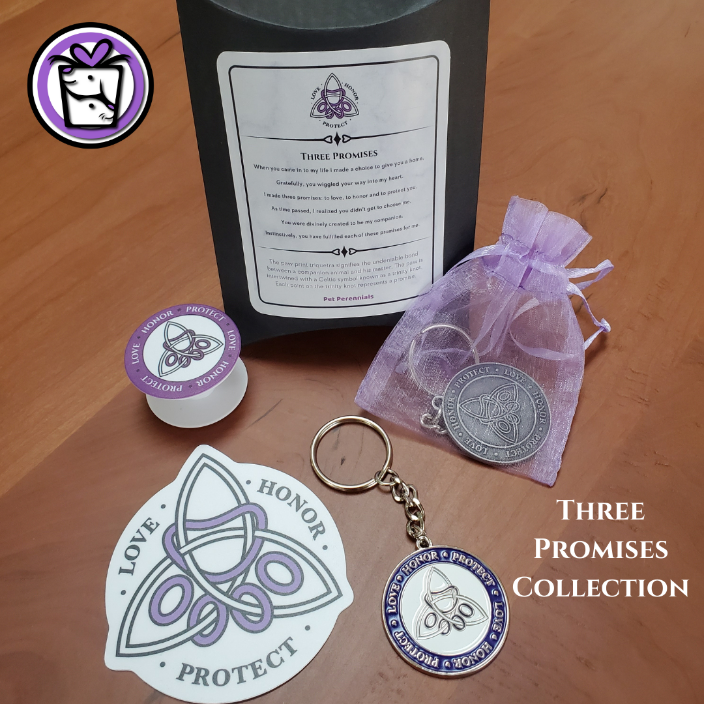 Three Promises Collection: Key Chain, Cling, Phone Pop