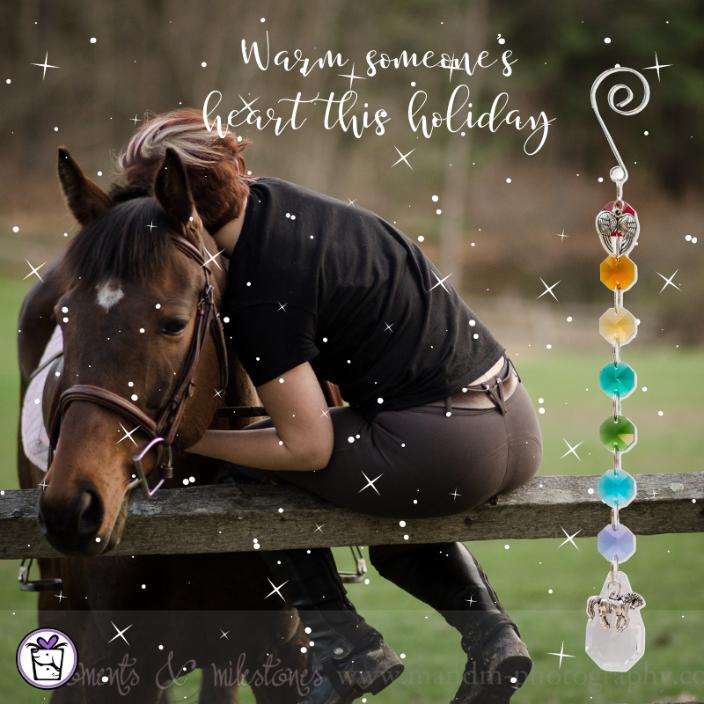 Crystal Rainbow Suncatcher with Horse Charm