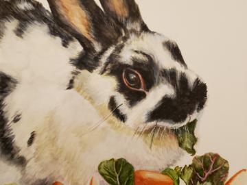 Bella's salad portrait