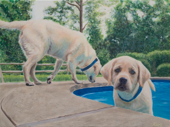 "'Golden Days of Summer' - Oil on canvas, 18x24"""