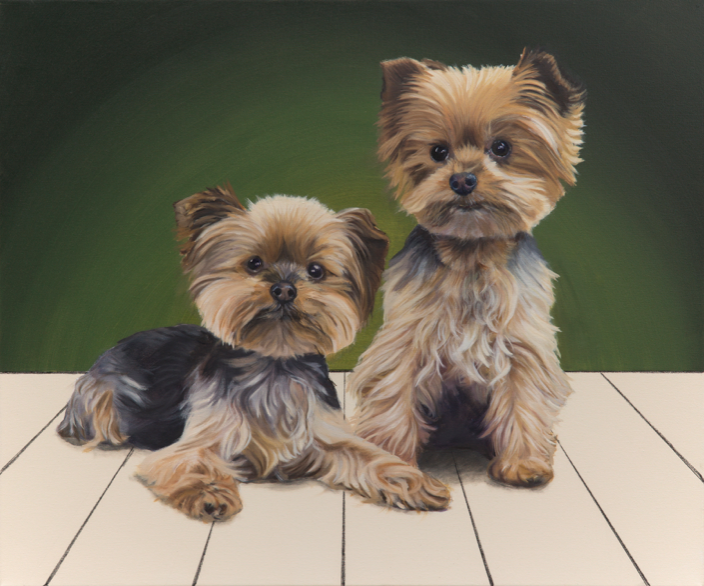 """'Myles and Casey' - Oil on canvas, 24x30"""""""