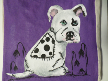 A good friend wanted her pup as Frankenweenie.