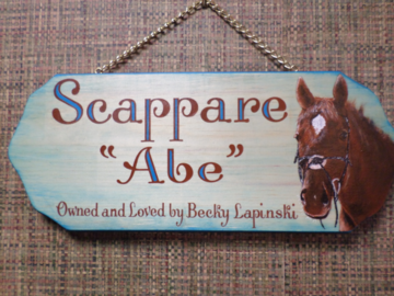 A unique barn stall plaque for a very dear friend