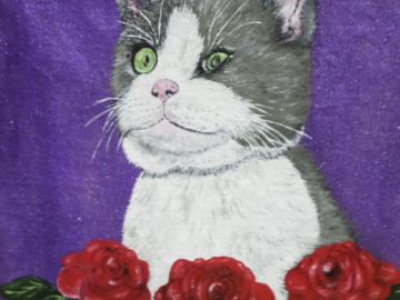 """Beautiful """"Boo"""" on a canvas tote bag."""