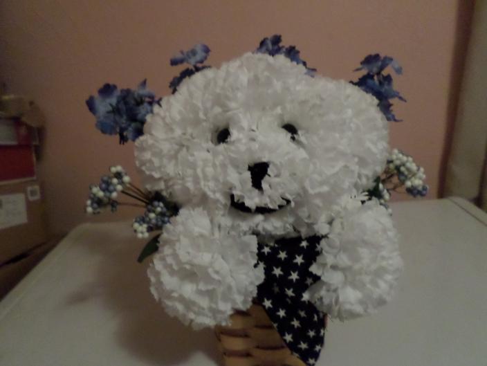 Sweet Sammy puppy bouquet.