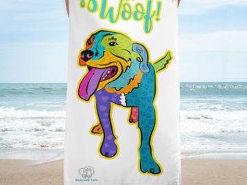 "Beach Towel: ""Travis"""