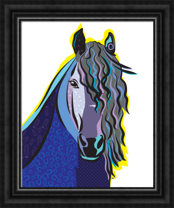"""Framed Print (Gallery quality frame): Horse, """"Apollo"""""""