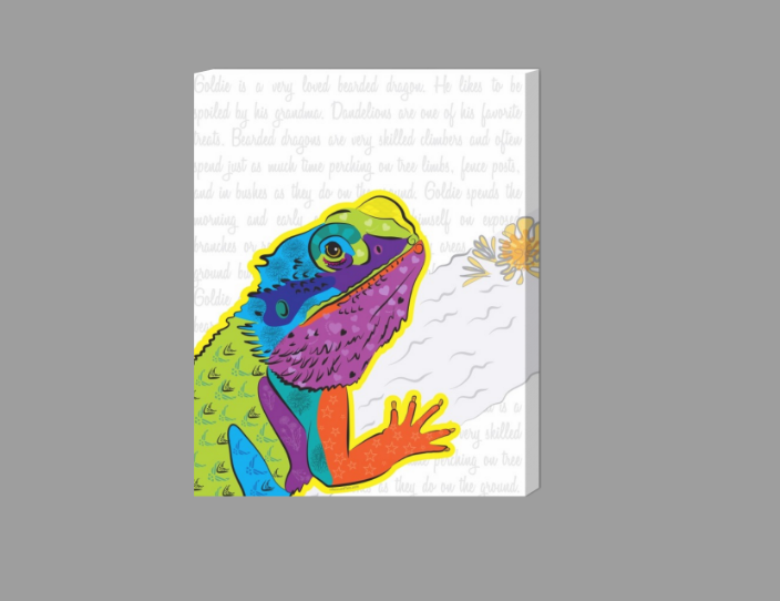 Portfolio: Canvas Print. Bearded Dragon