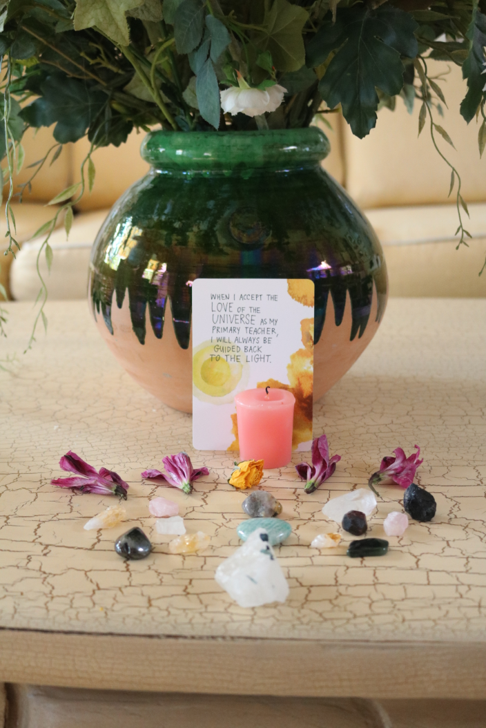 crystal alter for my dog's celebration of life ritual