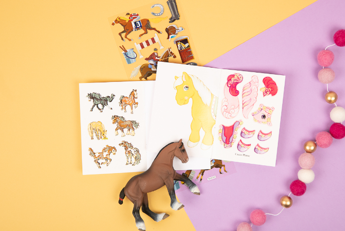 Stickers and Toy From LaLa Horse's Mystery Box