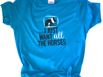 All the Horses Youth T-Shirt, from LaLa Horse
