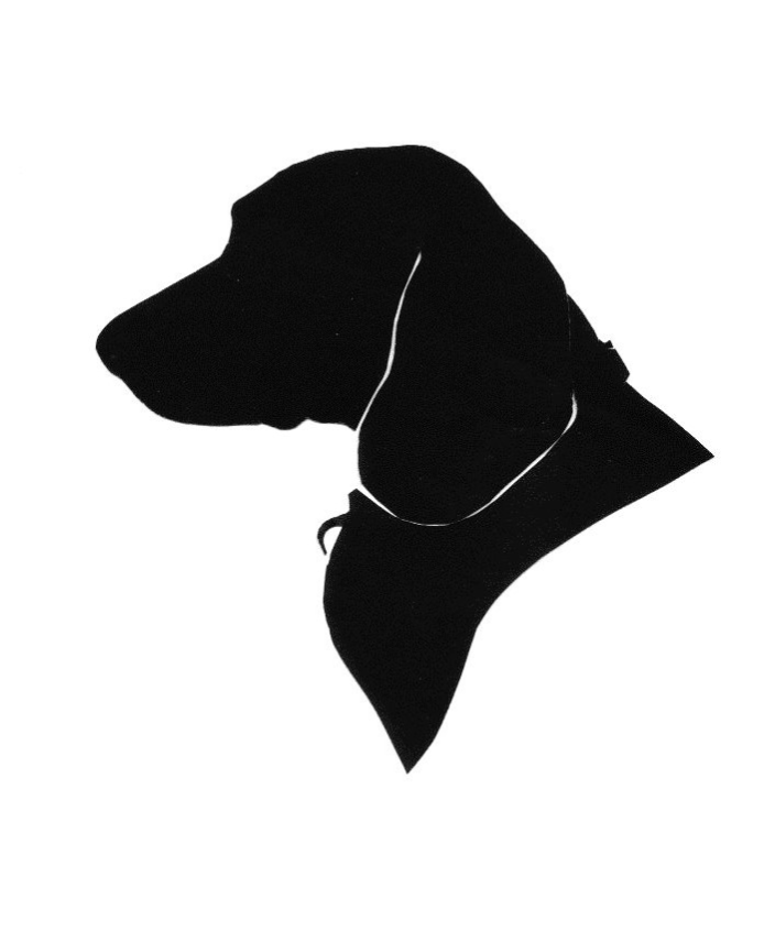 cut paper bust silhouette of Beagle $29