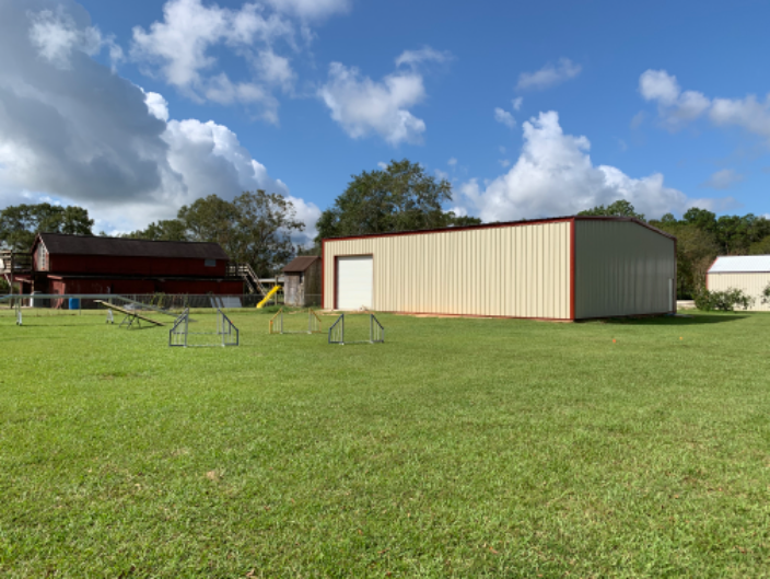 Training building and agility field.