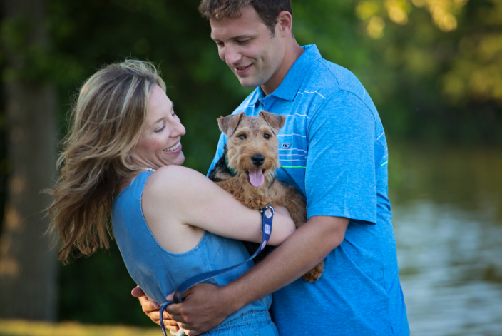 Couple with their dog