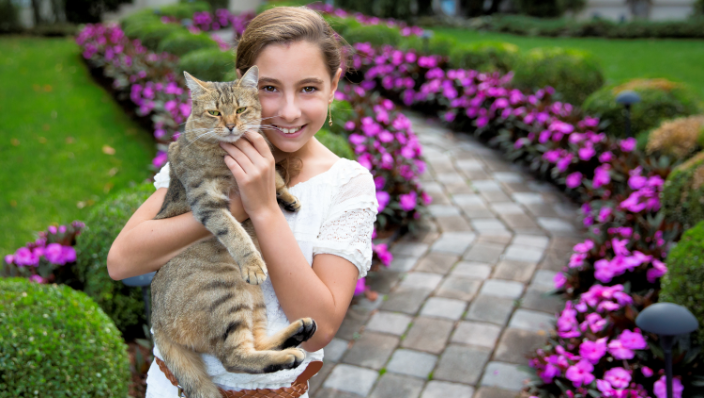 Girl with her cat West Long Branch, NJ