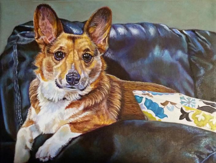"""""""Loki"""" ~ Corgi Portrait (Commission)"""
