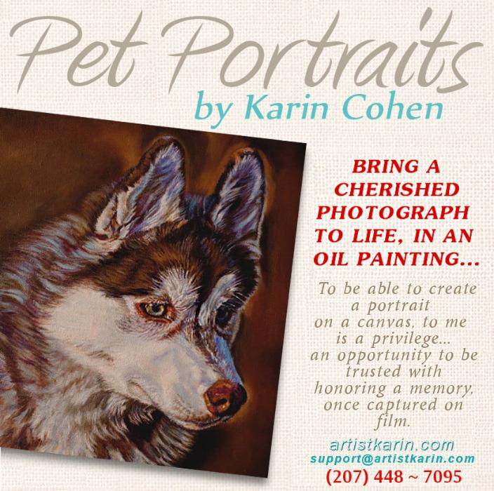 Pet Portraits by Artist Karin Cohen