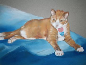 Benny(pastel on paper)