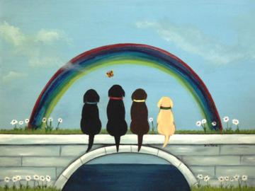Rainbow bridge dog pet memorial