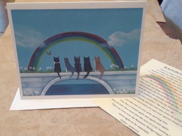 Rainbow bridge cat sympathy card