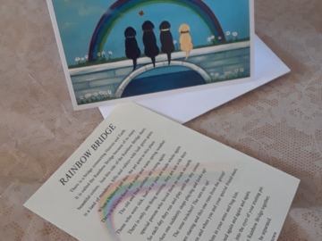 Rainbow Bridge dog sympathy card