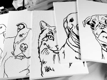 Pre-drawn canvas instruction!
