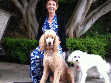 Dr. Engelman and her two therapy dogs CJ and Lizzy