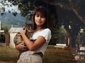 Lisa Paron holding a Cat