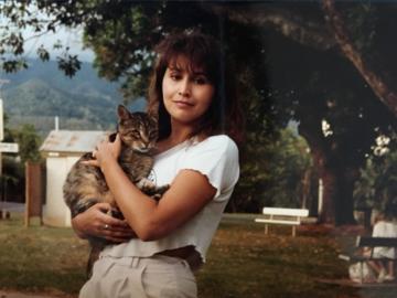 Lisa Paron holding a Cat