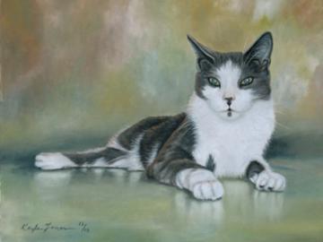 Dartanian - Custom Cat Painting