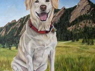 Shasta - Custom Dog Painting