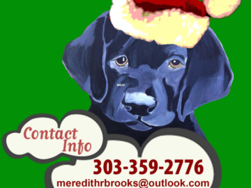 Contact Information for Custom Hand Painted Ornament or Custom Pet Portrait on Canvas! Also Offering Masks with Pet on Them! Every breed to choose from