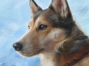 Portrait of Ruby (digital painting on canvas)