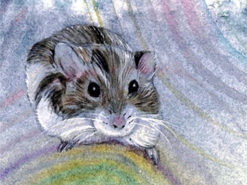 Meanie the Hamster (watercolor)