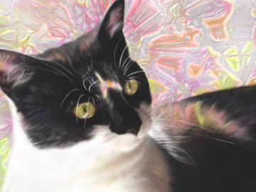 Siui's Favorite Colors (digital painting on canvas)