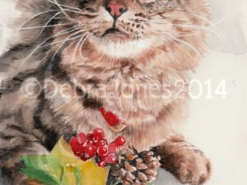 Watercolor of my cat, 8x10 ($260 price for size)