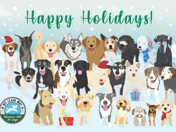 Happy Holiday's from Off Leash MKE Adventure Club for Dogs