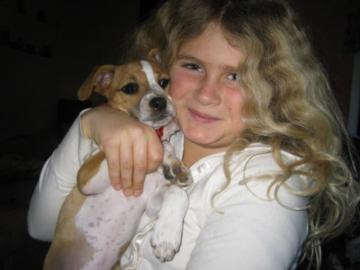 Nezzie & Gracie when they were both puppies