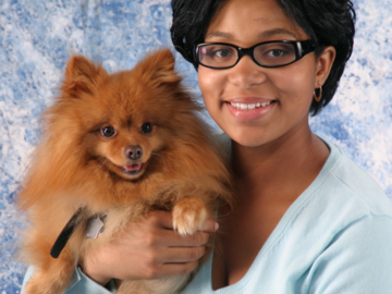 Pam and her Pom