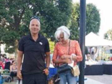 German Shepherd Enjoying A Trip To A Local Festival