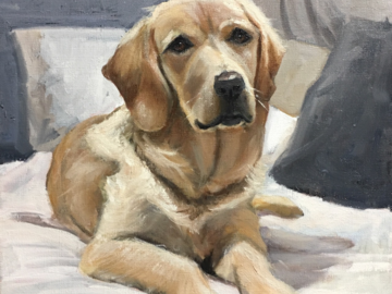 Painting of Golden Retriever - Dolly
