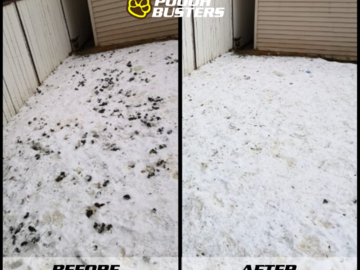 Winter service before and after picture