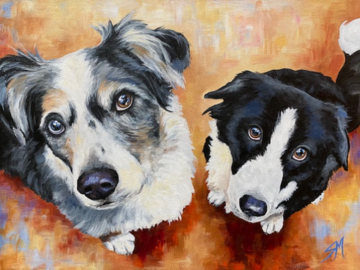 "12""x16"" Acrylic ""Hannah and Portia"""