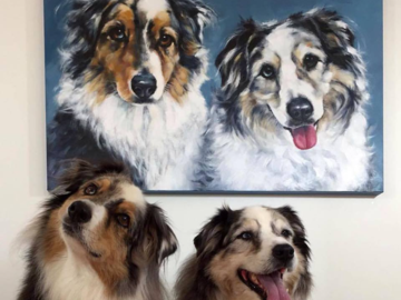 Aussies with their portrait