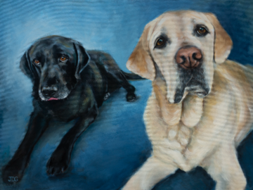 Jack and Max | 40in x 30in | Acrylic on canvas
