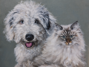 Hank and Winnie | 30in x 24in | Acrylic on canvas