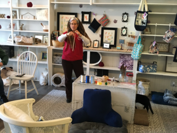 Teaching at the cat cafe